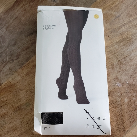 Black and Gold Fashion Tights
